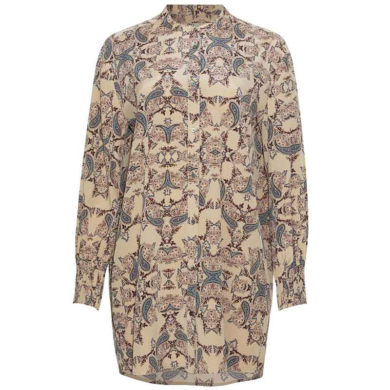 PBO Skjorte, Carnation, Light Taupe Print PBO group dametøj