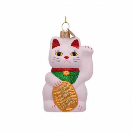 Vondels Julekugle, Lucky Cat, White Vondels julepynt