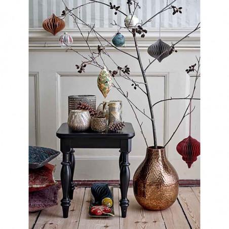 Bloomingville Julekugler 2 stk m/striber  Juleornamenter, glaskugler med dekoration på grene