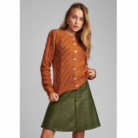 Nümph Cardigan, Nubritney, Leather Brown, Numph tøj, Nümph strik - Model