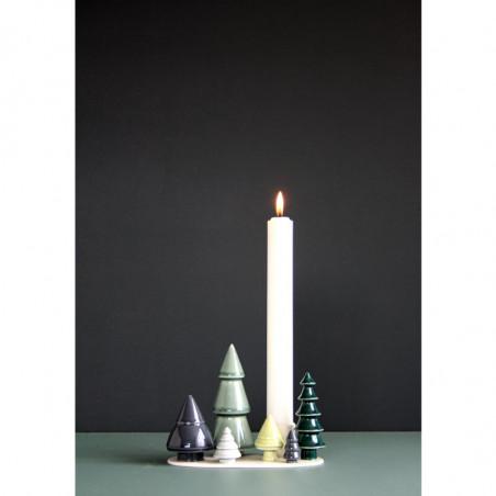 Dottir Stearinlys, 3x30 cm, Hvid Lys der passer til Winter storie Forest.