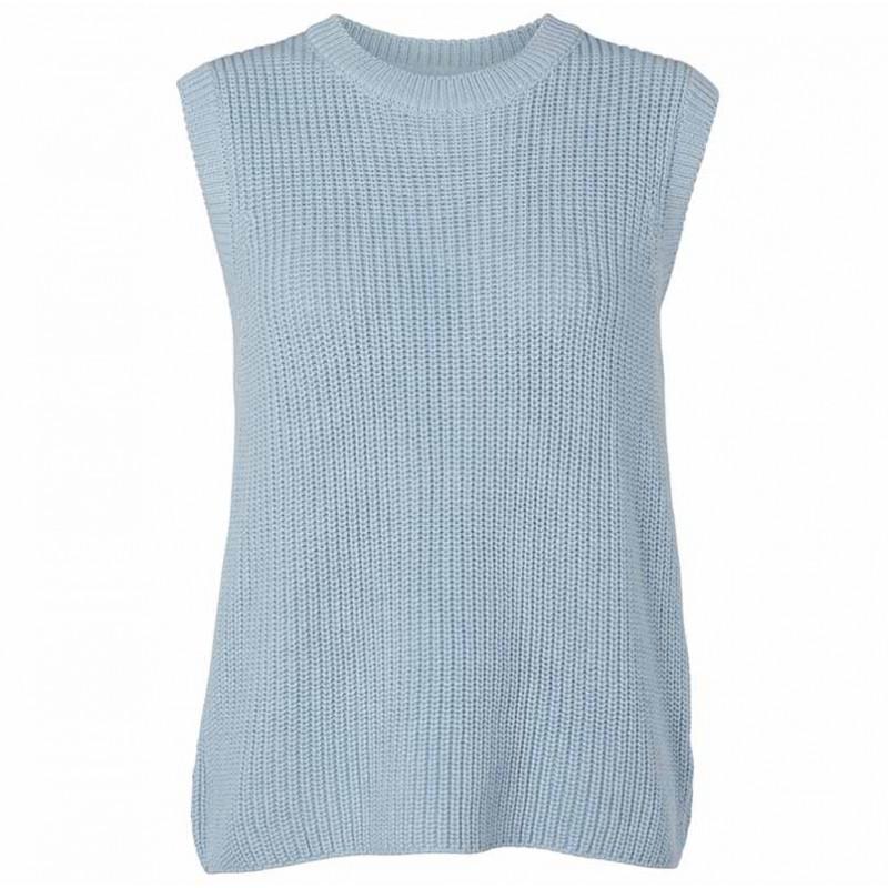 Basic Apparel Vest, Sweety, Cashmere Blue Strik Vest