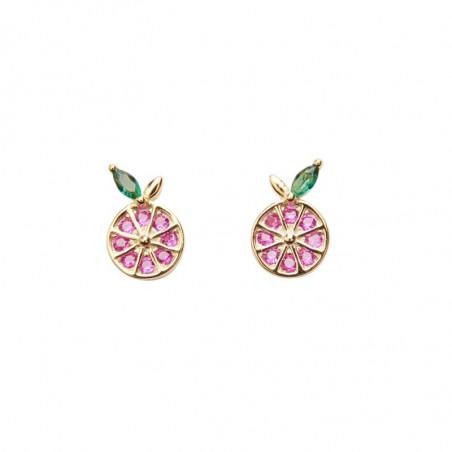 Pico Øreringe, Grapefruit Crystal Stud, Guld Pico copenhagen Earrings