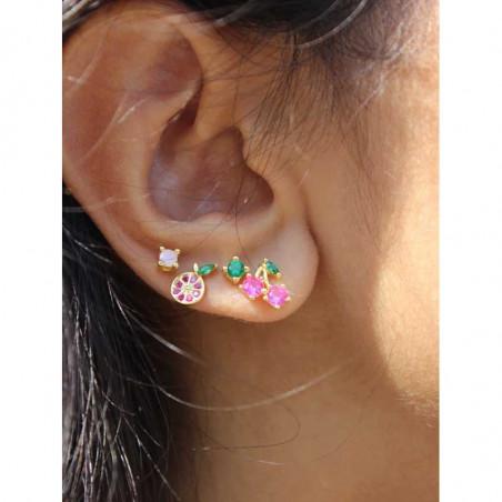 Pico Øreringe, Grapefruit Crystal Stud, Guld Pico copenhagen Krystal øreringe i guld