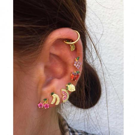 Pico Øreringe, Lemon Crystal Stud, Guld Pico Copenhagen earrings