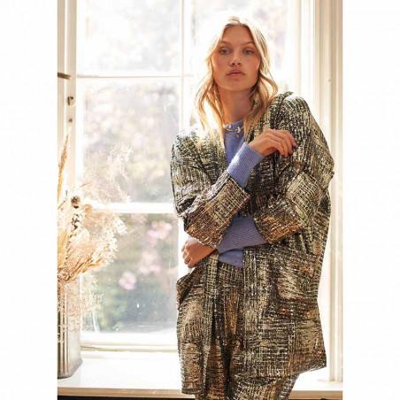 Lollys Laundry Kimono, Kimmi, Gold på model