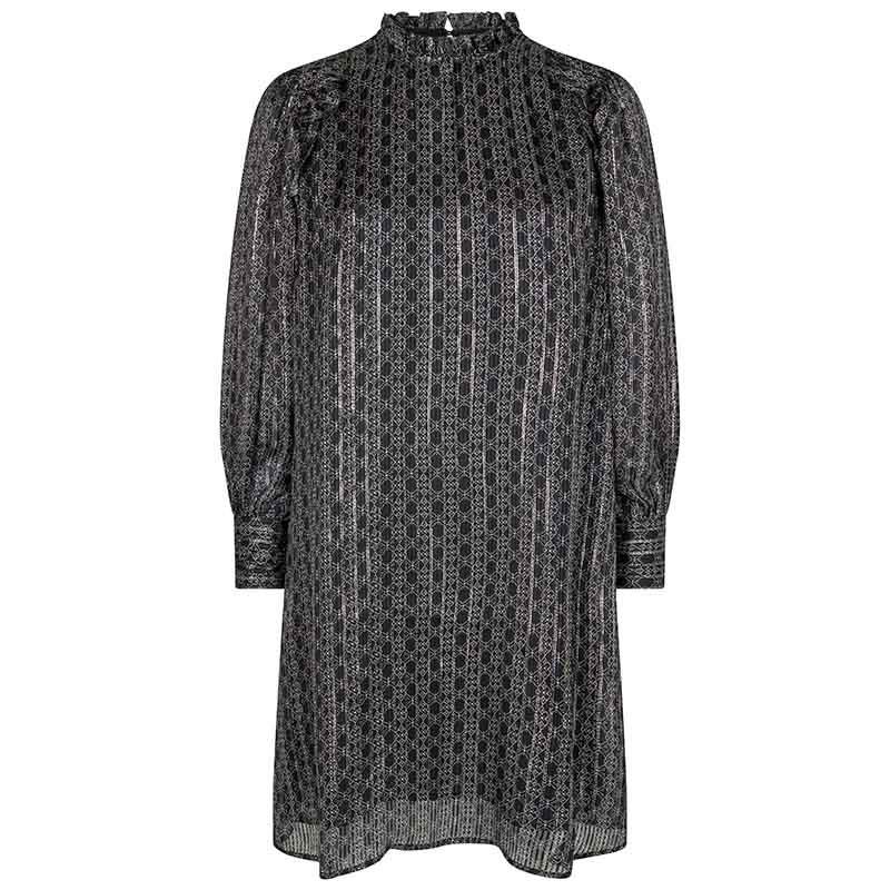 Mos Mosh Kjole, Randi Tile dress, Black