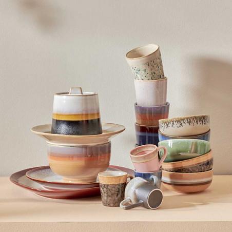 HK Living Krus, Ceramic 70's, Sunset HK living dk keramik krus & skåle