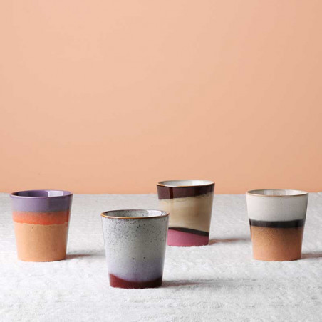 HK Living Krus, Ceramic 70's, Sunset HK living dk keramik krus mix