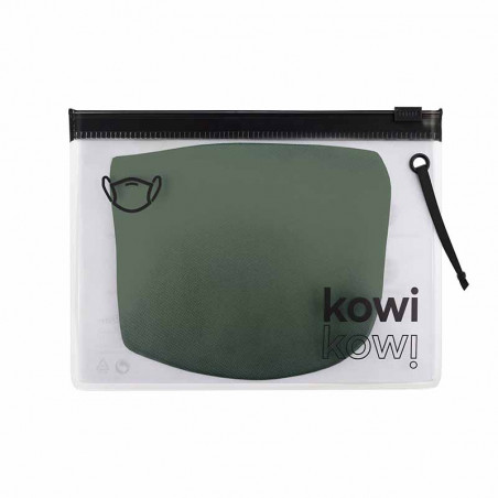 Kowikowi - facemask Forest Green comfort-maske facemask CE mærket mundbind indpakning
