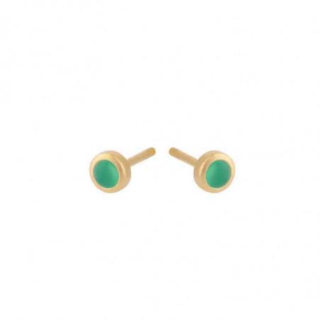 Pernille Corydon Øreringe, Shine Green Earstick - guld Pernille corydon smykker