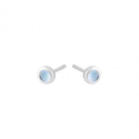 Pernille Corydon Øreringe, Shine Blue Earstick, Sølv Pernille Corydan smykker
