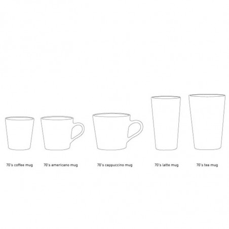 HK Living Krus, Ceramic 70's Latte, Sæt med 4 stk HK Living Danmark hk living dk Størrelsesguide krus