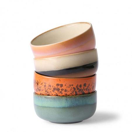 HK Living Skåle, Ceramic 70's Dessert, Sæt med 4 stk HkLiving dessert skåle i keramik
