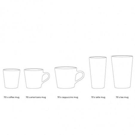 HK Living Krus, Ceramic 70'er Latte Mugs, Beige mix  Sæt med 2 stk HK Living Danmark hk living dk størrelser