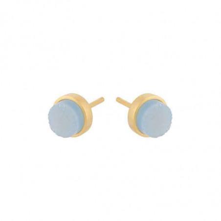 Pernille Corydon Øreringe, Shallow Earsticks Blue Druzy/Guld