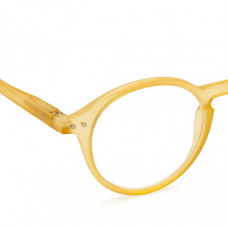 Izipizi Briller, D Reading, Yellow Honey - Izipizi læsebriller unisex detalje