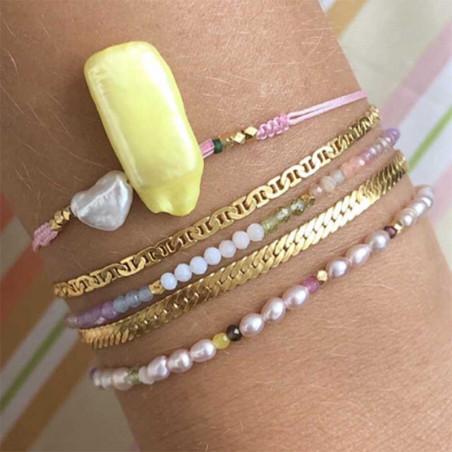 Stine A Armbånd, Confetti Pearl, Beige Pastel mix Stine A smykker