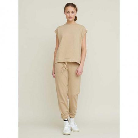 Basic Apparel Bukser, Maje Sweat Pants, Camel melange Jogging sæt