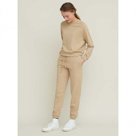 Basic Apparel Bukser, Maje Sweat Pants, Camel melange Jogging bukser og bluse
