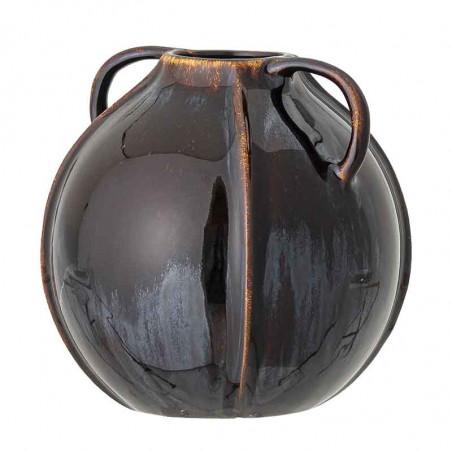 Bloomingville Vase, Rund Stentøj, Brun side