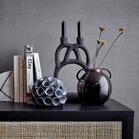 Bloomingville Vase, Rund Stentøj, Brun i miljø