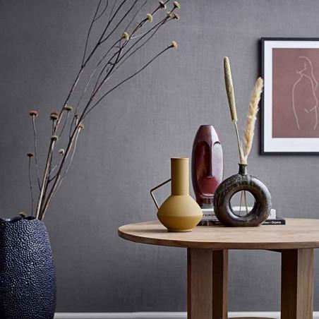 Bloomingville Vase, Aflang - Ansigt Stentøj, Brun setting