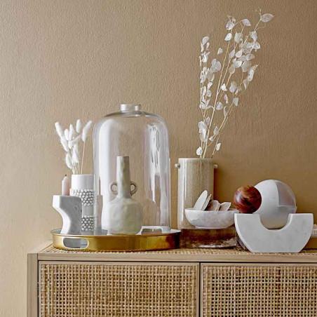 Bloomingville Vase, Aflang m/hanke, Natur opstilling
