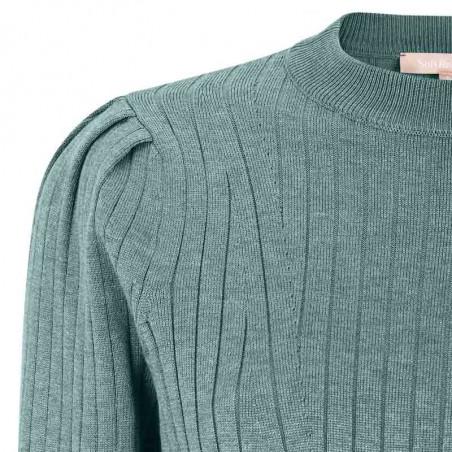 Soft Rebels Bluse, SRLivana Knit, Smoke Melange detalje