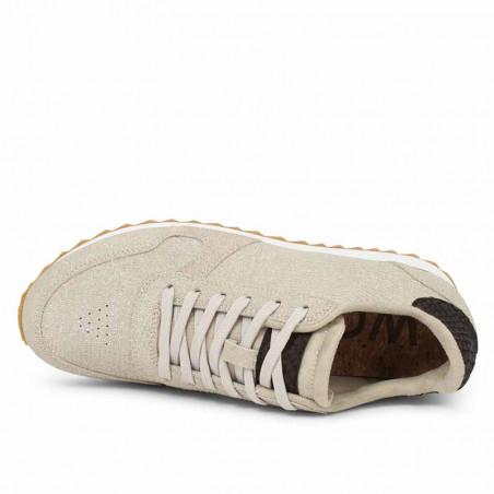 Woden Sneakers, Ydun Pearl II, Pelican set oppefra