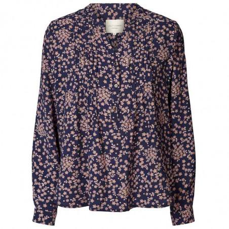 Lollys Laundry Skjorte, Helena, Flower Print, Navy
