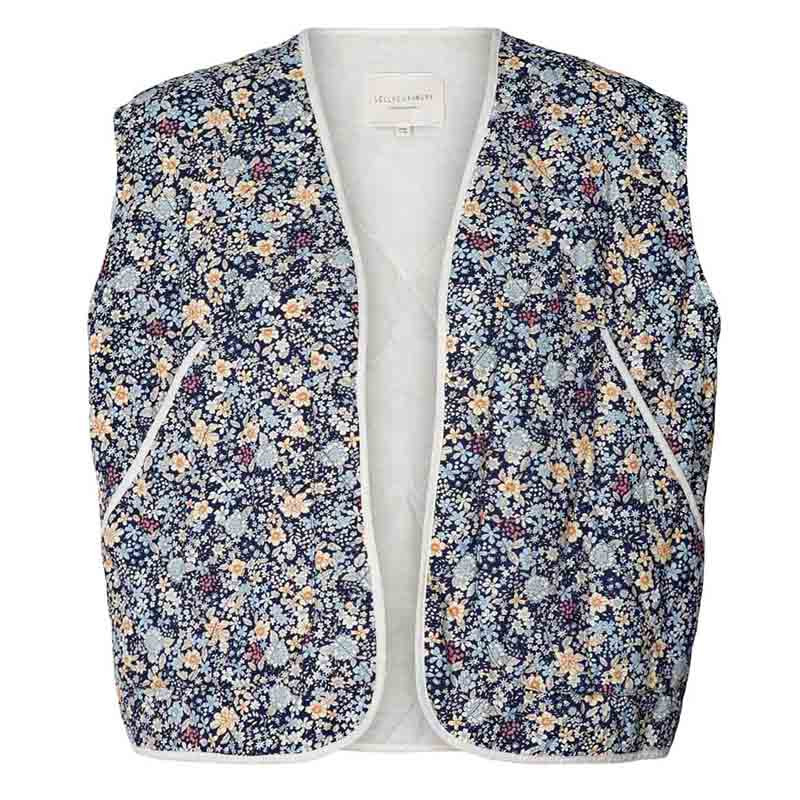 Lollys Laundry Vest, Nora, Dark Navy Lollys Laundry Quiltet vest