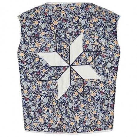 Lollys Laundry Vest, Nora, Dark Navy Lollys Laundry Quiltet vest bagside