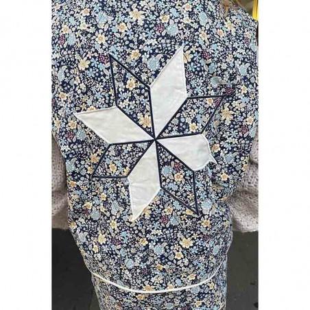 Lollys Laundry Vest, Nora, Dark Navy Lollys Laundry Quiltet vest ryg
