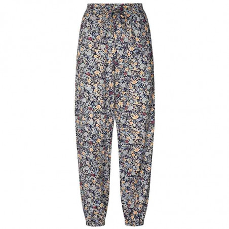 Lollys Laundry Bukser, Mona, Dark Navy Lollys Laundry pants med print