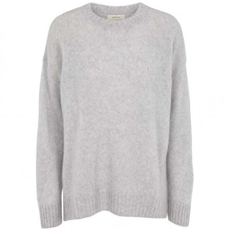 Basic Apparel Strik, Marnie O-neck, Light Grey Mel Basic Apparel sweater