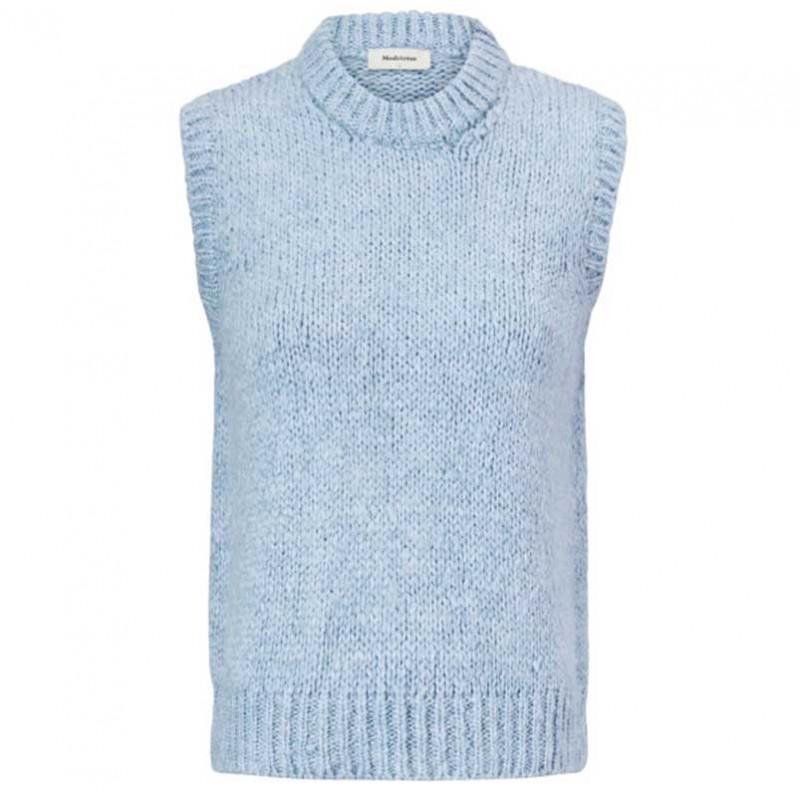 Modström Vest, Valentia, Blue Wash Modstrom strikket vest