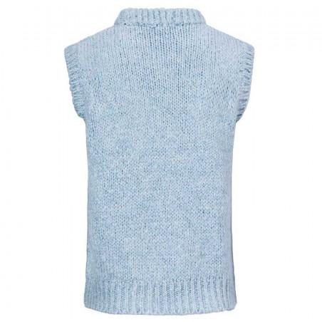 Modström Vest, Valentia, Blue Wash Modstrom strikket vest ryg