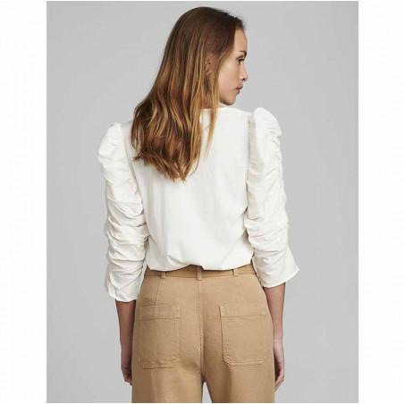 Nümph Bluse, Nufiona, Bright White, Numph tøj - Model Bagside