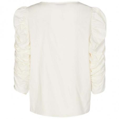 Nümph Bluse, Nufiona, Bright White, Numph tøj - Bagside