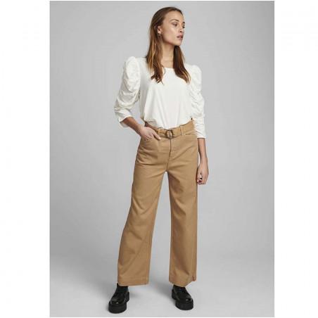 Nümph Bluse, Nufiona, Bright White, Numph tøj - Model fuld front