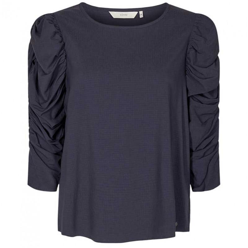 Nümph Bluse, Nufiona, Dark Sapphire, Numph tøj, Numph bluse
