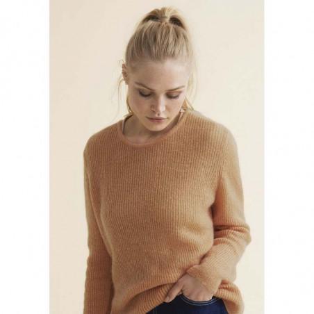 Sibin Linnebjerg Strik, Capri, camel Sibin Linnebjerg strikket mohair sweater dame model