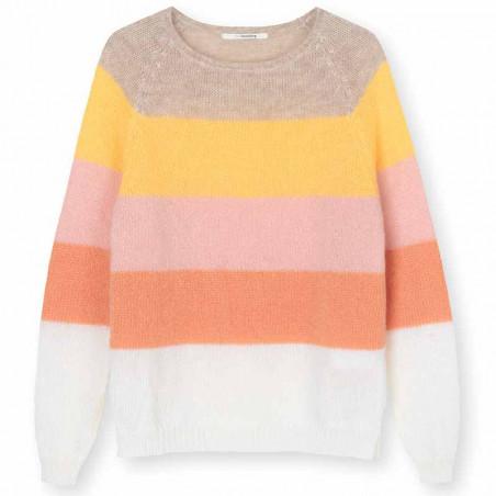 Sibin Linnebjerg Strik, Aki, Multi Sibinlinnebjerg pullover - sweater