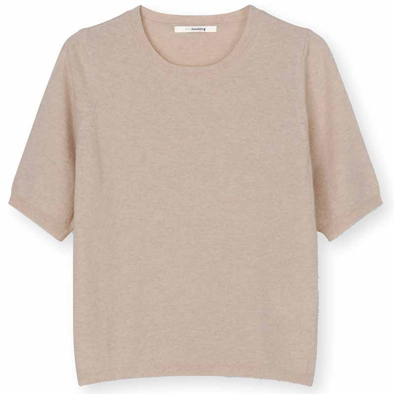 Sibin Linnebjerg Strik Bluse, Bella, Light Sand