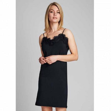 Nümph Underkjole, Nubowie Long Singlet, Caviar Numph kjole på model