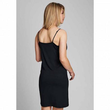 Nümph Underkjole, Nubowie Long Singlet, Caviar Numph kjole på model bagfra