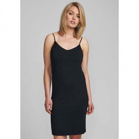Nümph Underkjole, Nucady Long Singlet, Caviar Numph kjole på model