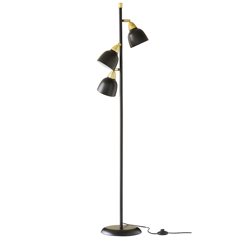 Superliving Gulvlampe, Urban Triple Floor, Real Black