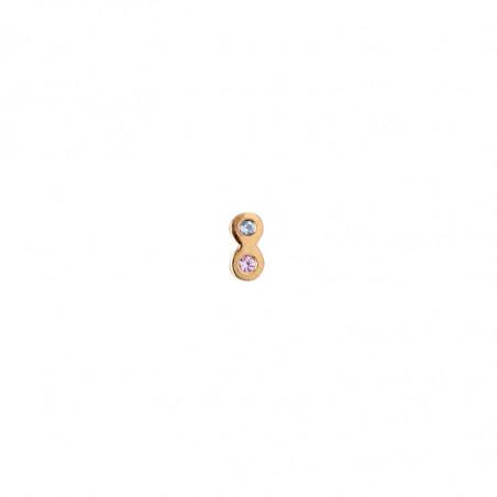 Stine A Ørering, Two Candy Dots Earring, Guld ørestikkere